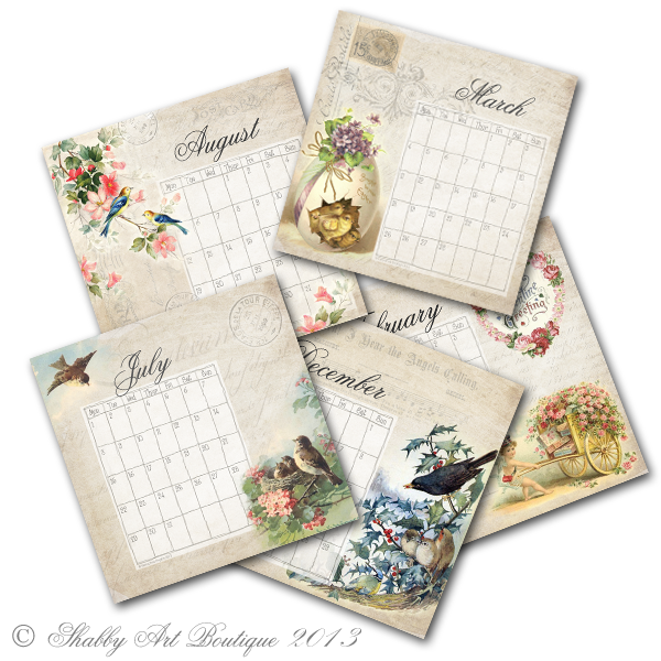 Shabby Art Boutique desk calendar 4