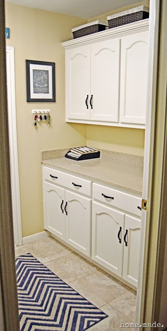 Laundry Room White Cabinets