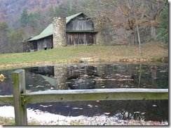 Barn and pond on Little East Fork