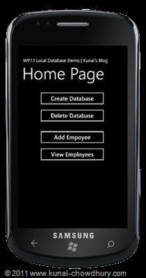 WP7.1 LocalDBDemo - Create Main Page UI
