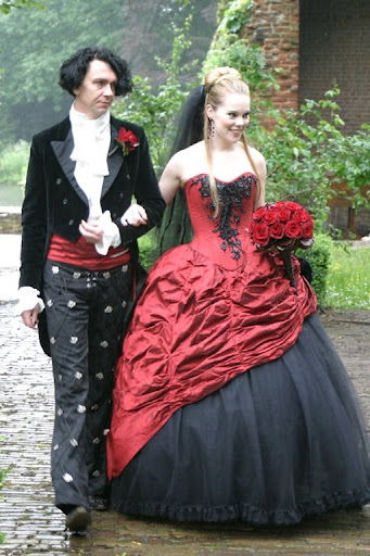 Some lucky people are able to go to a lot of goth wedding weddings