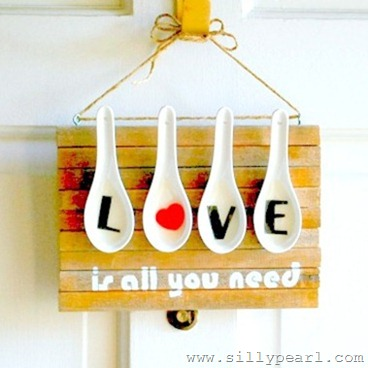 Chinese Soup Spoon Valentines Wall Art - The Silly Pearl