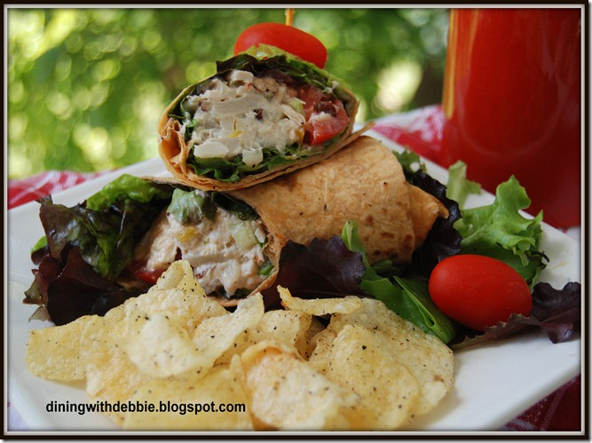 tuna-pecan salad wrap