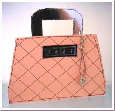 Sewn handbag Card