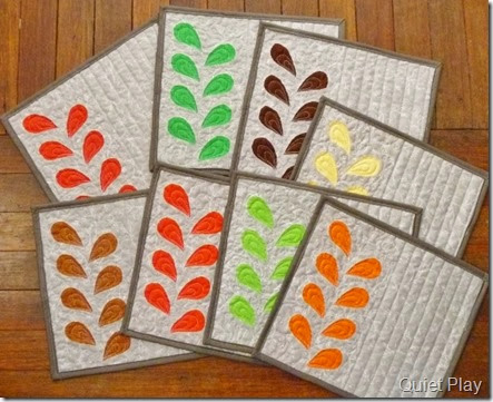 Reverse applique placemats