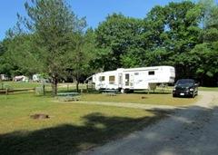 Our Site at  Holiday Hills Campground In Springwater NY
