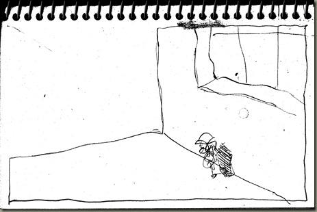 Sketch of dream scene