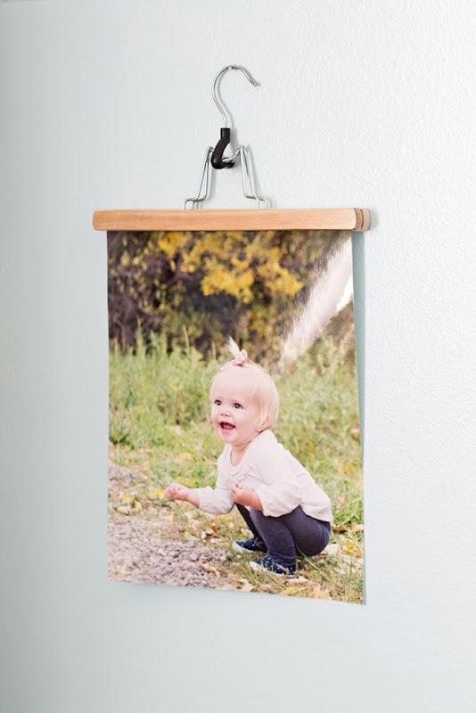 hang photos with hanger