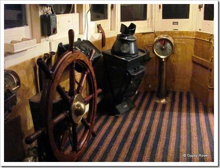 Trawler wheelhouse.