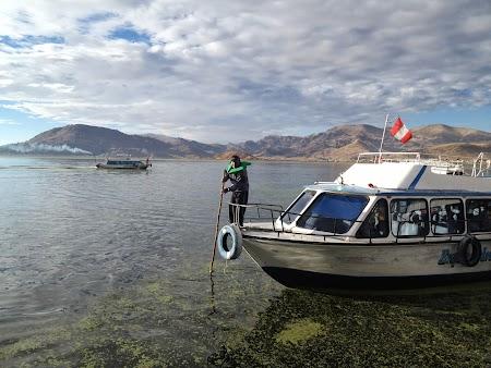 Barca cu care am mers pe Titicaca