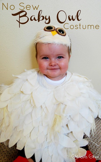 No Sew Baby Owl Costume