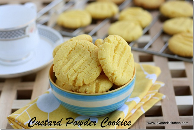 cstard powder cookies