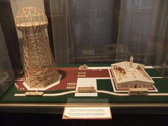 maqueta de la Torre Wardenclyffe. Museo Tesla, Belgrado