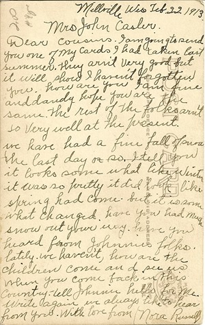 Nora Russel Postcard back Solway