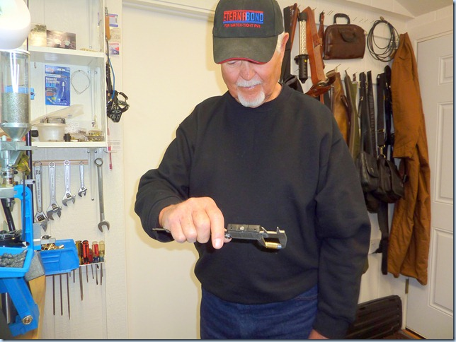 """Aw Ha. my """"new calipers"""" tell me that my """"new bullet"""" is right on!!"""