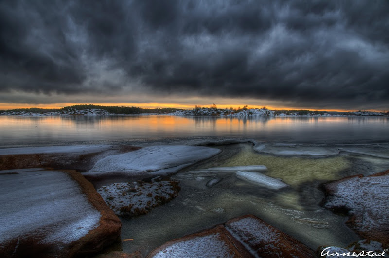 Winter coastal landscape at Hvaler.