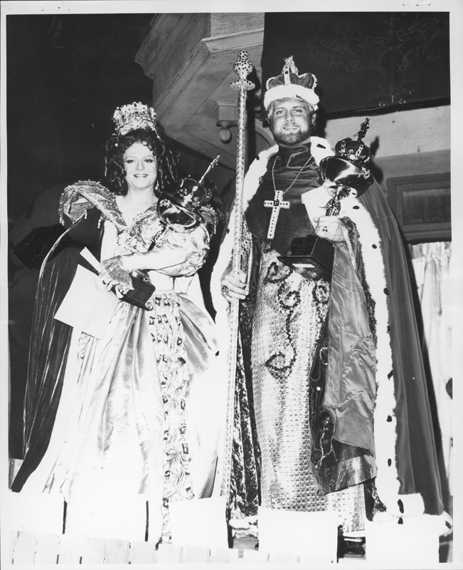 The king and queen of the Metropolitan Community Church's May Festival. 1971.