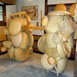 wooden baskets at Edo Wonderland in Nikko, Totigi (Tochigi) , Japan
