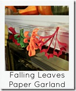 paper leaves garland