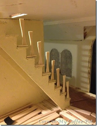 stair railing -stiles-
