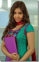 Komal Jha Cute Images in Green Salwar @ Billa Ranga Movie