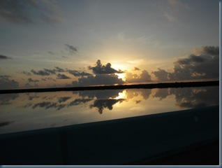 August 13, 2010: sunrise over Key Largo on the way home