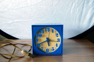 Seth Thomas Mini-Light alarm clock, blue