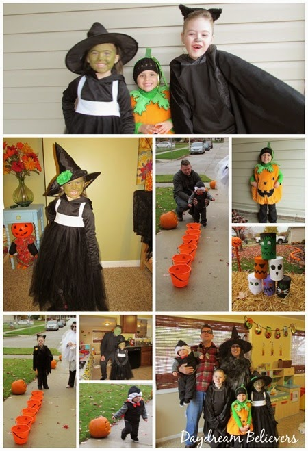 Halloween Recap on daydreambelieversdesigns.com  #halloween  Family Party DIY Costumes Snacks and Games