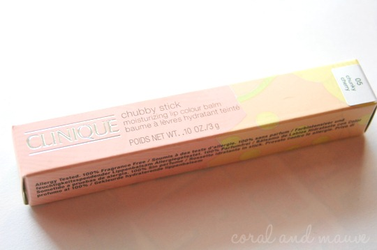 Clinique Chubby Stick Verpackung