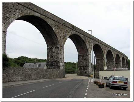 Dis-used railway bridge across Cullen, Aberdeenshire.