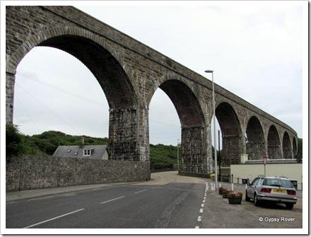 Dis-used railway bridge across Cullen, Aberdeenshire.