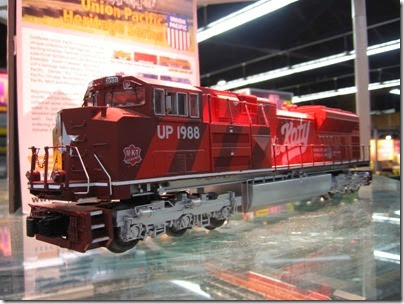 IMG_5351 O27 Union Pacific Heritage Fleet SD70ACe #1988 (Missouri-Kansas-Texas) by MTH at the WGH Show in Portland, OR on February 17, 2007