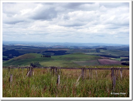 Scotland as seen from the border on the A68.