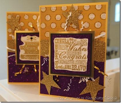Glitter Graduation Cards
