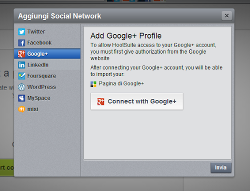 Google+ in Hootsuite