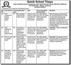 Sainik School Tilaiya Advt1 - IndGovtJobs