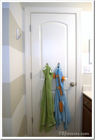 PBJStories.com Bathroom Reveal Kids Towels