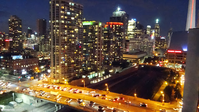 gorgeous nightview of Toronto from my balcony in Toronto, Ontario, Canada
