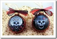 Lace Bride & Groom Skull Set