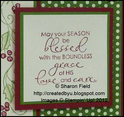 5 piece stamp set :  Christmas Blessings
