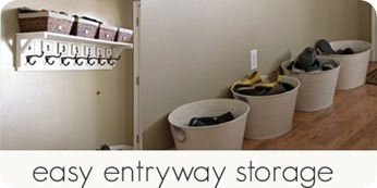 easy entryway storage
