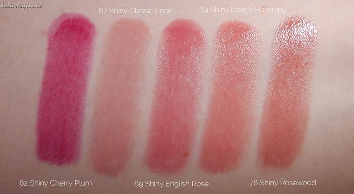 Artdeco Color Lip Shine Lipsticks Swatches