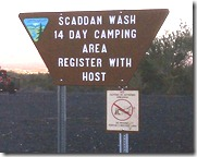 Scaddam Wash sign