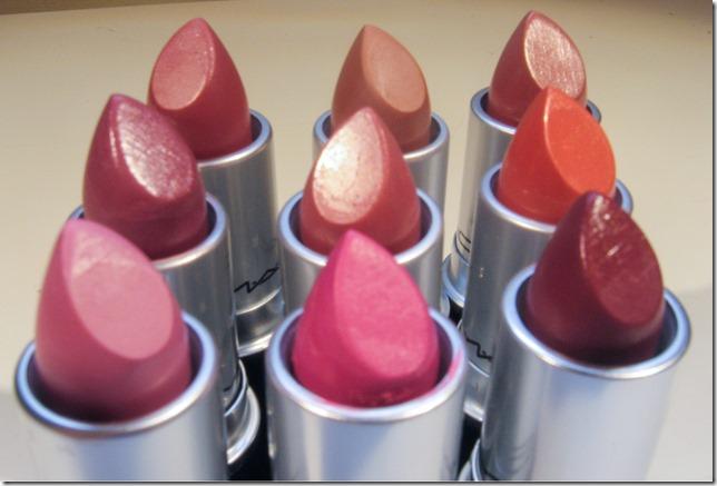 Mac lipsticks closeup 2