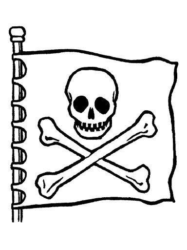 Piratas para colorear