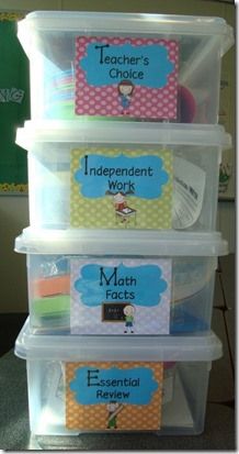 Guided Math boxes Down Under Teacher