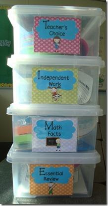 Guided Math boxes Down Under Teacher