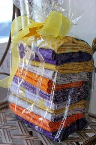 Quilt Kit: cute triangle quilt in purple,orange and yellow