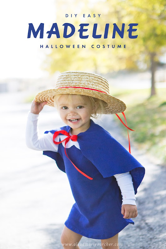 DIY Madeline Costume, How to make a madeline costume, DIY Madeline Cape