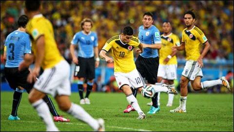 El mjejor gol del Mundial Brasil 2014 para James Ridriguez de Colombia